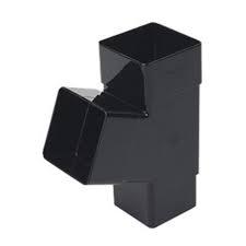 65mm Square Downpipe 112' Downpipe Branch - Black