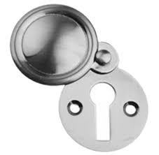 Eclipse Victorian Chrome Covered Escutcheon - 32mm (2pk)
