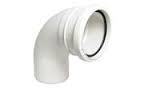 110mm Push Fit 90' Double Socket Bend - White