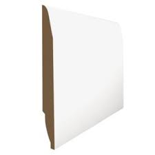 QLine 18 x 144mm MDF Pre-Primed Chamfered/Ovolo Reversible Skirting