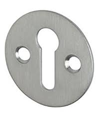 Eclipse Victorian Satin Chrome Round Open Escutcheon - 38mm