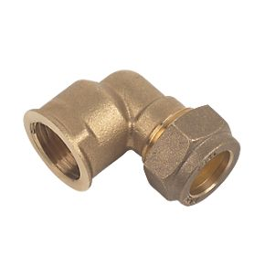 22mm Brass Compression Female Iron Elbow to 3/4""