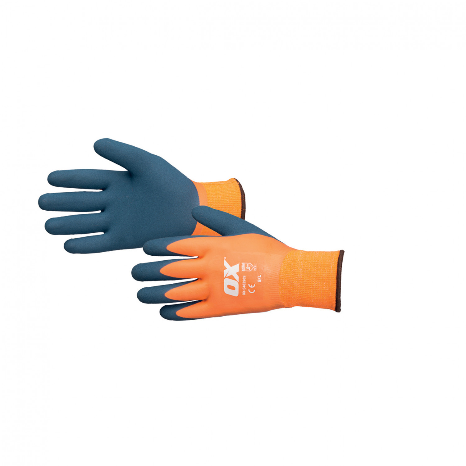 Ox Waterproof Thermal Latex Gloves - Size 10 (XL)