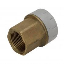 Polyplumb 15mm x 1/2 Female Iron Straight Connector