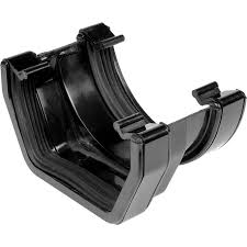 112mm Square Line Half Round to Square Line Adaptor - Black