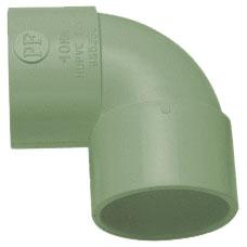 50mm Solvent Weld Waste 90' Knuckle Bend - Olive Grey