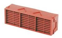 "Combination 9"" x 3"" Plastic PVC Airbrick G930 - Red"