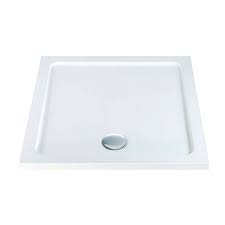 K-Vit 800 x 800mm Square L/P Shower Tray (c/w Fast Flow Waste)