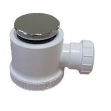 40mm Shower Waste: White Plastic w/ Trap