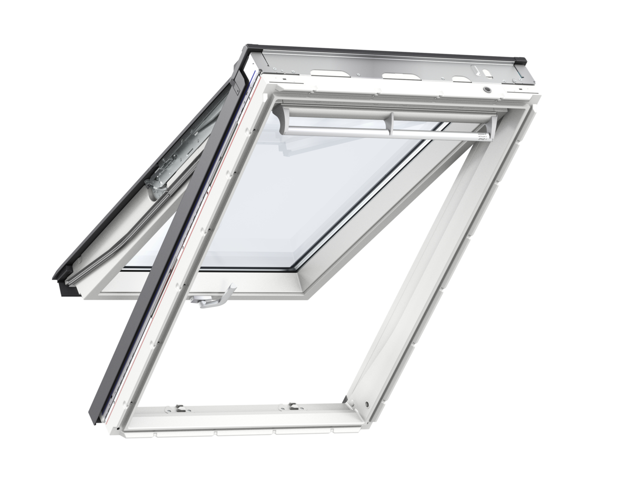 Velux GPU CK04 550 x 980mm Top Hung 66Pane Roof Window - White Polyurethane