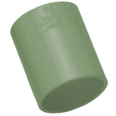 50mm Solvent Weld Waste Straight Coupler - Olive Grey