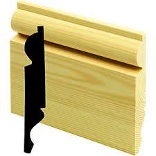 Torus/Ogee Reversible Softwood Skirting - 25mm x 150mm