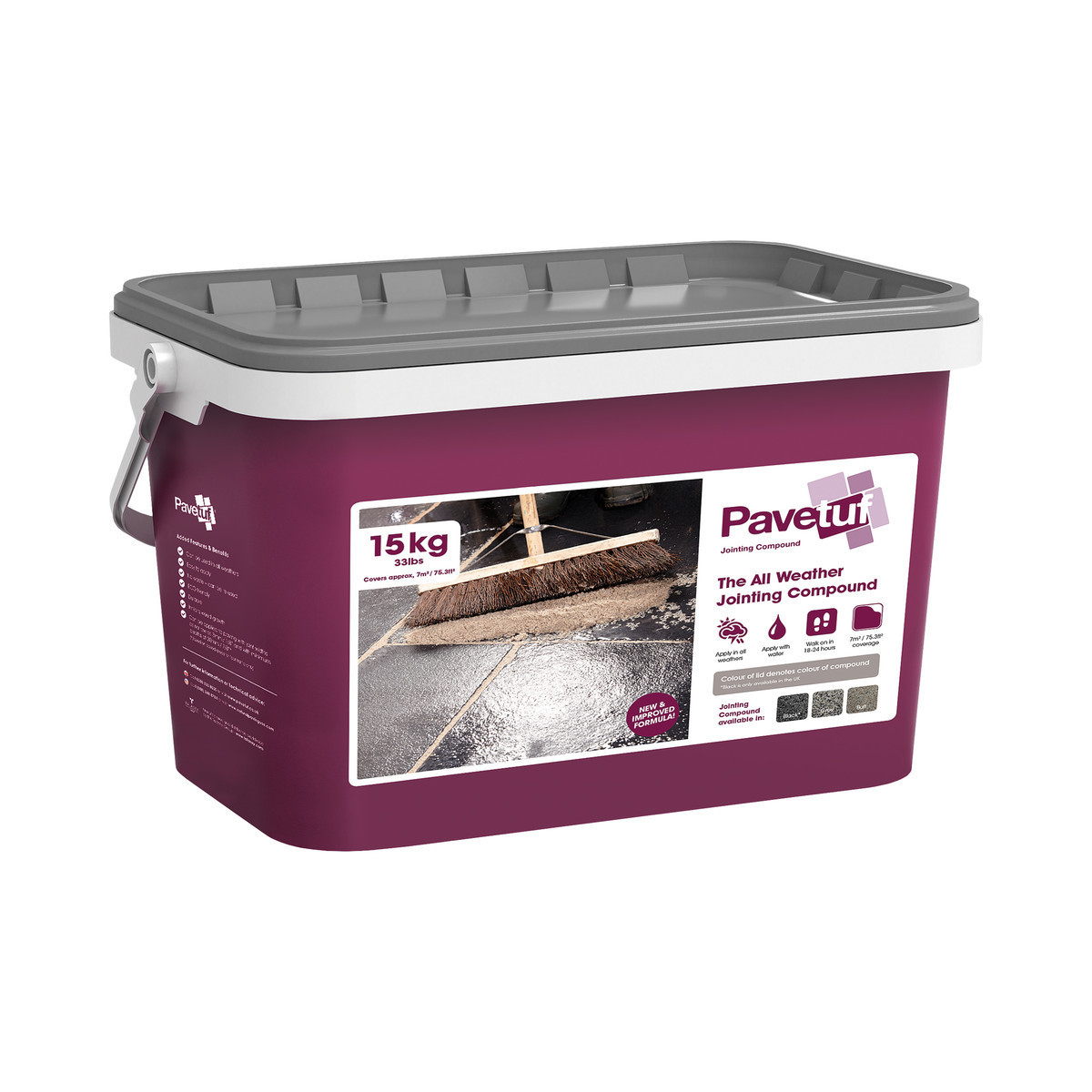Talasey PaveTuf Jointing Compound - Grey - 15kg Tub