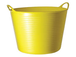 40L Gorilla Flexible Tub/Bucket - Yellow