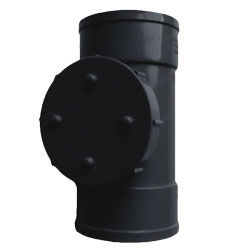 110mm Solvent Weld Double Socket Access Pipe - Black