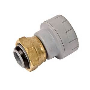 "Polyplumb 15mm x 3/4"" Straight Tap Connector"