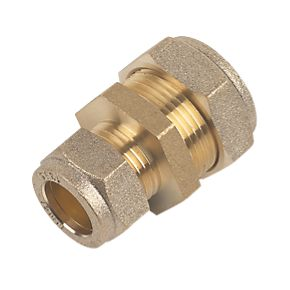 15mm Brass Compression Reducing Coupling to 10mm