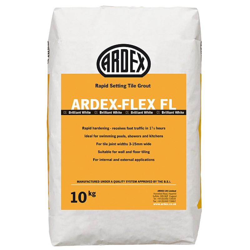 Ardex FL Rapid Set Flexible Tile Grout - White - 10kg