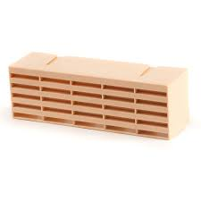 "Combination 9"" x 3"" Plastic PVC Airbrick - Buff"