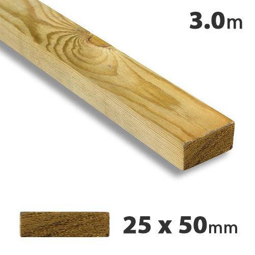 25 x 50mm Tanalised Timber Batten (3m)