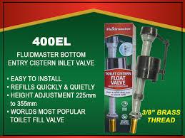 """Fluidmaster 3/8""""  Bottom Entry Brass Shank Filling Valve (400EL)"""