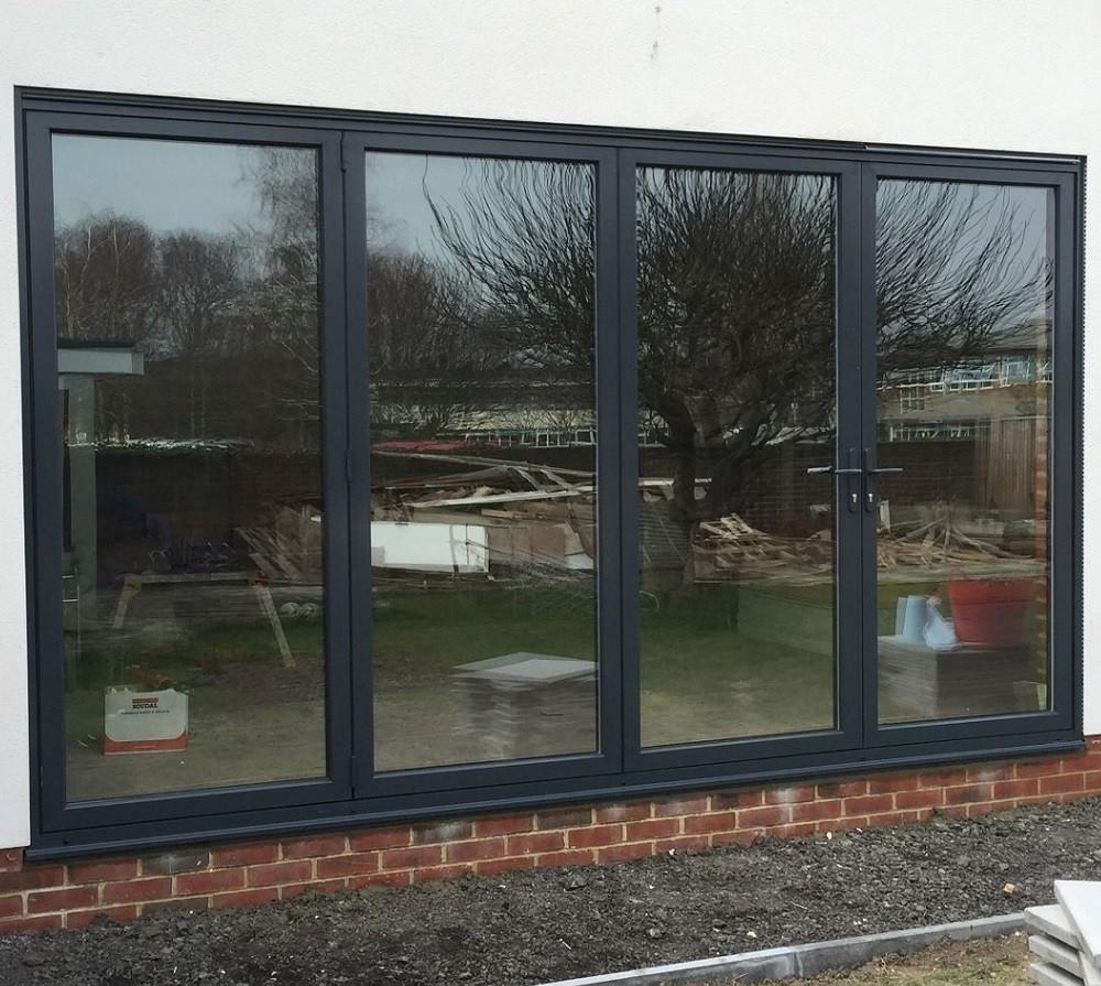 4500 x 2100mm Smart Visiofold 1000 Alumiunium BiFold Door (4 Leaves) 4-4-0