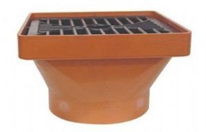 110mm Underground 160mm x 160mm Square Hopper Head