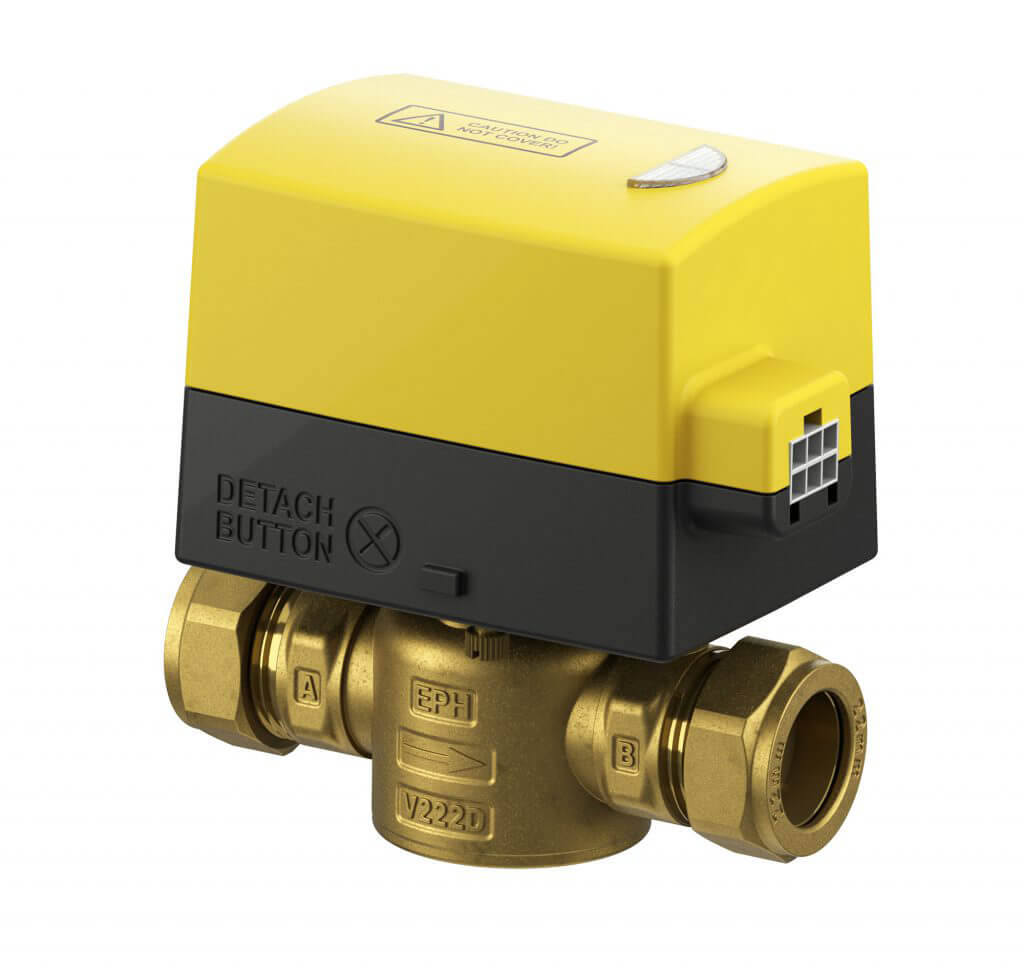 EPH 2 port 22mm Detachable Compression Motorised Valve (Normally Closed, 230Vac)