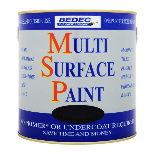 Bedec Multi-Surface Paint (MSP) - 750ml - Satin - Black