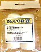 "Decor8 4"" High Density Foam Roller Refills (Twin Pack)"