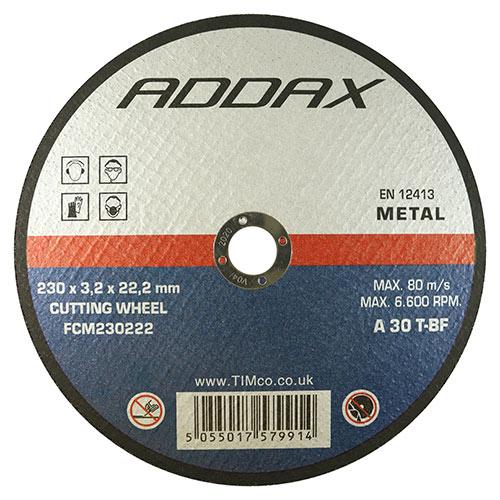 Metal Cutting Flat Abrasive Disc: 230 x 3.2 x 22.2mm