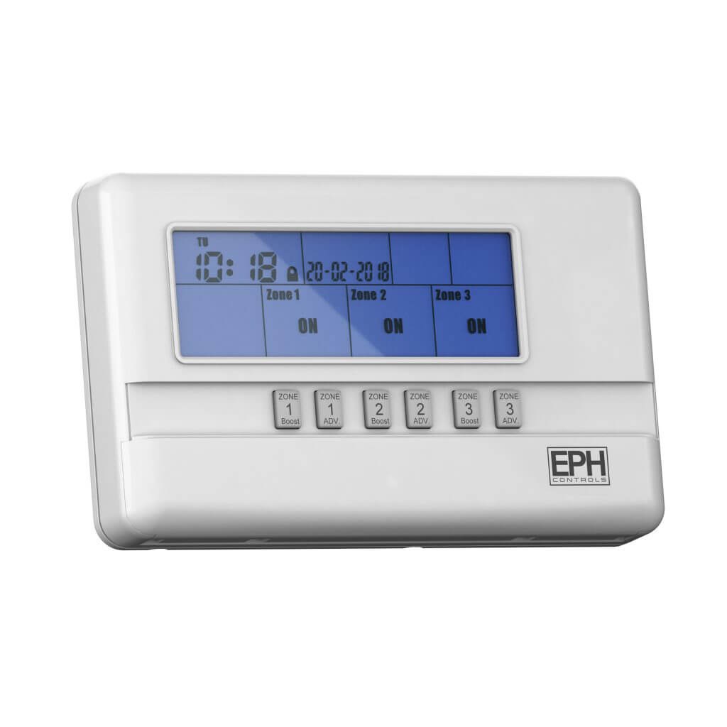 EPH 3 Zone Programmer, 7 Day or 5 / 2 Day or 24 Hour (c/w 230Vac contacts)