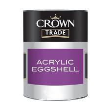 Crown Trade - Acrylic Eggshell - White - 2.5L