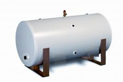 JABDUC Unvented Horizontal Indirect Stainless Steel Cylinder - 150 ltr