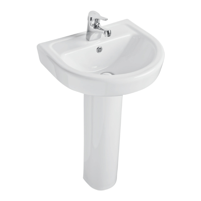 K-Vit Ratio 1TH Basin 460mm & Pedestal