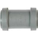 32mm Push Fit Waste Straight Coupler - Grey