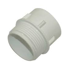 50mm Iron BSP Connector - Solvent Weld - White