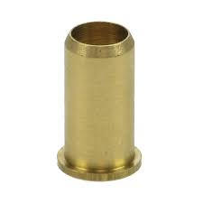 10mm Brass insert with lip for oil line