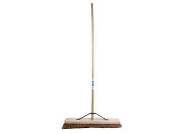 "Faithfull 60cm (24"") Soft Coco Broom (Head, Handle & Stay)"