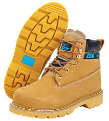 Ox Honey Nubuck Safety Boot - Size 9