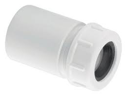"McAlpine R16 19mm-23mm x 1""1/4 ABS solvent to Overflow adaptor"