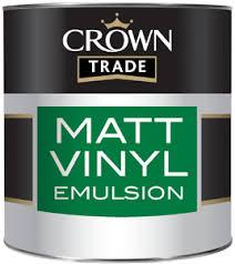 Crown Trade Essentials Matt Emulsion - 2.5l - Soft Cream