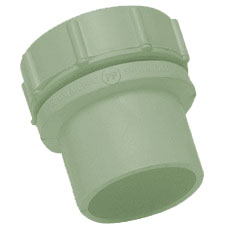 50mm Solvent Weld Waste External Screwed Access Plug - Olive Grey