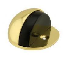 Eclipse Oval Shielded Brass Floor Door Stop
