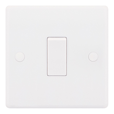 Selectric Smooth 10A Plate Light Switch [X-Rated, ATSA] - 1 Gang, 2 Way