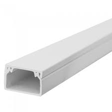 25x16mm Sticky Back Mini Electrical Trunking - 3m