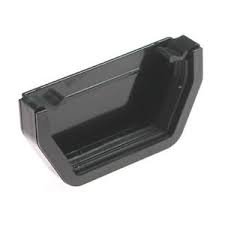 112mm Square Line External Stop End - Black