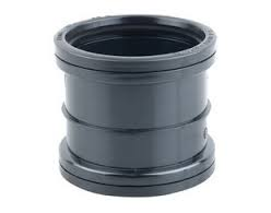 110mm Push Fit Double Socket Coupling - Black