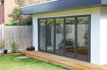5000 x 2100mm Smart Visiofold 1000 Alumiunium BiFold Door (5 Leaves) 5-5-0
