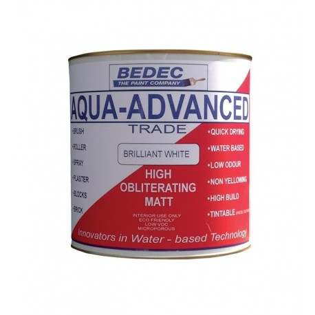 Bedec High Obliterating Matt Emulsion - 2.5L - Brilliant White